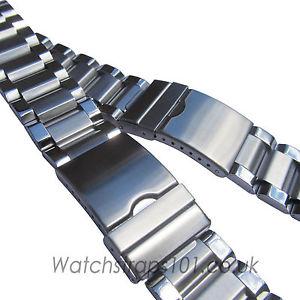 【送料無料】watch bracelet stainless steel 26 or 28mm width strap quality metal free uk pamp;p