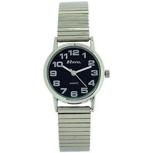 【送料無料】ravel ladies stainless steel soft expanding bracelet strap watch r0208032s