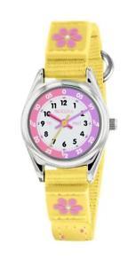 【送料無料】tikkers yellow flower theme time teacher nylon strap watch tk0155