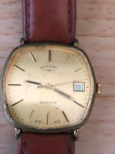 【送料無料】rotary 1760 date quartz wrist watch