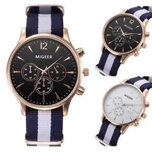 【送料無料】migeer classic military aviation 40mm quartz alloy watch webbing canvas strap