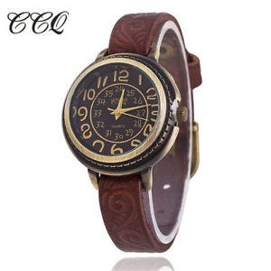 【送料無料】vintage cow leather watch high quality antique women wrist watch casual quartz w