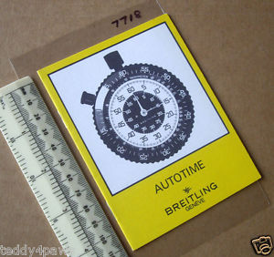 【送料無料】1970s breitling autotime car dashboard stopwatch timer instruction booklet