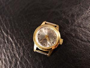 【送料無料】neues angebotvintage jean cardot 17 jewel manual wind ladies wristwatch gold tone amp; stainless