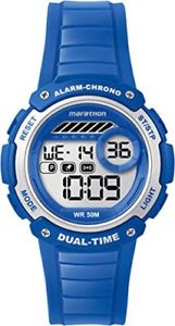 【送料無料】timex digital mid marathon blue chronograph watch tw5k85000