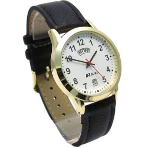 【送料無料】ravel mens daydate watch goldtone 0706191