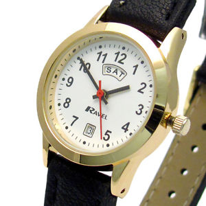 【送料無料】ravel ladies daydate watch goldtone 0706192