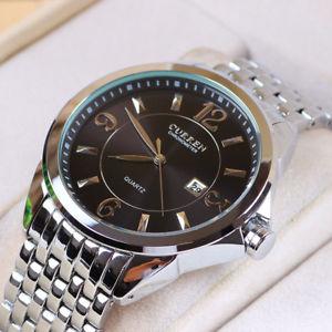 【送料無料】orologio da polso curren 8071 uomo analogico quarzo elegante acciaio data ne lac