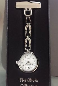 ladies genuine olivia collection nurses fob watch white toc06