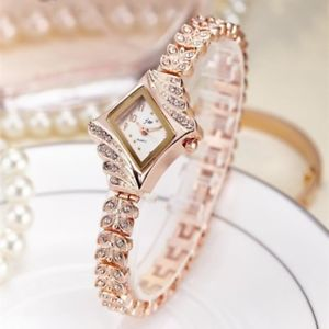【送料無料】jw ladies womens stainless steel bracelet quartz watch with rhinestones