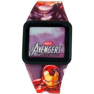 【送料無料】avengers boys led touch screen multicolour rubber strap watch avg3522