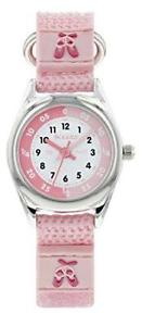 【送料無料】tikkers girls pink ballet theme time teacher nylon strap watch ntk0013