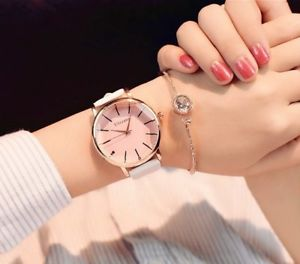 【送料無料】ulzzang women watches luxury leather casual fashion 2017 dress quartz wristwatch