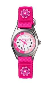 【送料無料】tikkers girls pink flower theme time teacher nylon strap watch tk0119