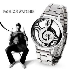 【送料無料】relogio masculino  luxury fashion music note notation watch stainless steel