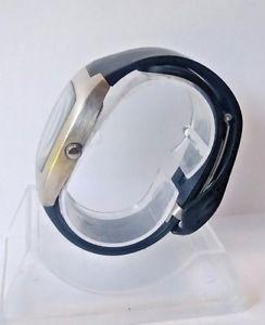mens vintage drakkar noir stainless steel quartz watch 0186