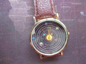 【送料無料】quartz mens planets theme watch, great fun as a gift,