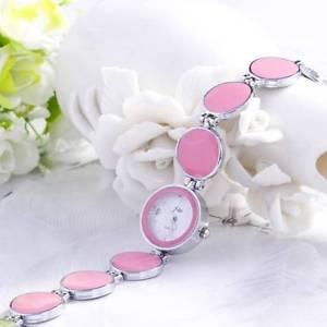 【送料無料】 fashion pink enamel circle watch ~ free shipping to usa w06