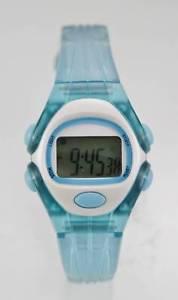 【送料無料】watch womenyouth light alarm month day date blue plastic water resistant quartz
