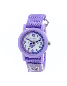 【送料無料】nb tikkers childrens time teacher webbing strap watch with rip strap  tk0111tn