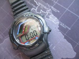 【送料無料】mens reflex watch, quartz alarm chrono,, battery today,, used