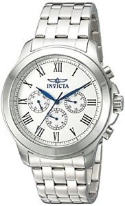【送料無料】invicta mens 21657 specialty analog display swiss quartz silvertone watch