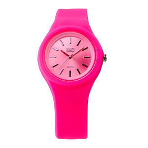 【送料無料】eton round case silicon strap fashion watch 2816