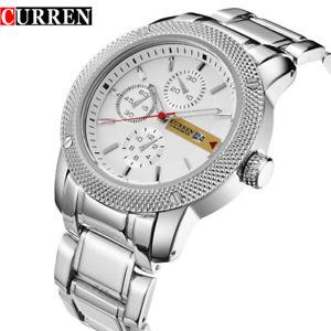 【送料無料】orologio da polso curren 8069 uomo analogico quarzo luxury acciaio data bian lac