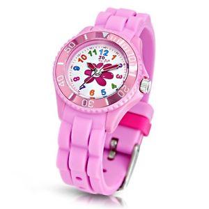 【送料無料】flower watch with pink silicon strap 50m 5atm by jo for girls