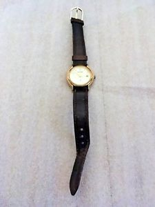 【送料無料】ladies vintage gold accurist quartz watch