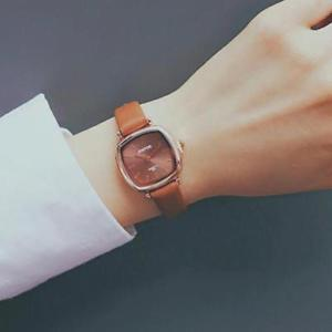 【送料無料】ulzzang vintage square women watches luxury ladies dress quartz wrist watch