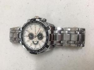 【送料無料】curren cool sport watch water resistant silver color