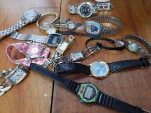 【送料無料】mixed bag of 20 wristwatches, fashion, dress, mens, womens, mostly modern