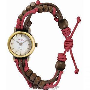 【送料無料】khnp aklf0006l kahuna ladies gold plated watch