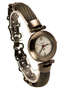 【送料無料】falconwomens stainless steel antique bronze metal bracelet analog watch
