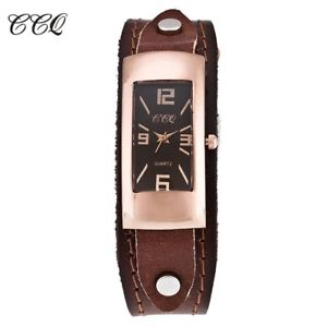 【送料無料】ccq genuine leather women bracelet watch fashion casual ladies quartz watch