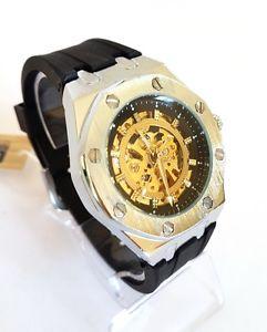 【送料無料】orologio da polso yk g8508 uomo analogico automatico moderno fashion silver lac