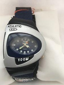 【送料無料】city mens sports british flag athletic analogue quartz slip over strap watch