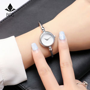 【送料無料】bgg ladies bracelet watch women  gold amp; silver strap simple design casual w