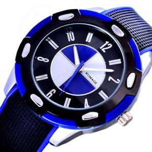 【送料無料】fashion casual sports quartz round blue male kids wristwatches waterproof resin