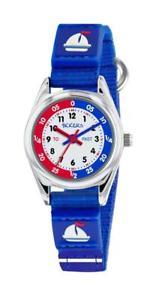 【送料無料】tikkers blue boat theme time teacher nylon strap watch tk0153