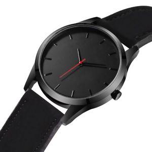 【送料無料】2018 sport watch men leather calendar quartz wrist wristwatch military watch