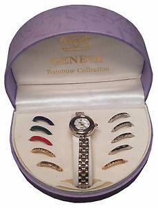 【送料無料】geneva rainbow collection watch b5