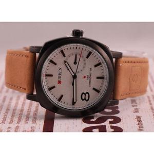 【送料無料】elegante curren di lusso orologio uomo quarzo, analogico qa