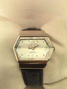 【送料無料】quemex  womens analogue classic quartz crystal glass leather strap watch