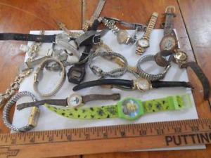 【送料無料】20 ladies wristwatches, mixed bag, old, , armitron, guess, etc lot 3