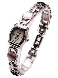 【送料無料】infinitywomens antique semi precious stones links analog quartz watch
