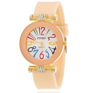 【送料無料】beige rainbow number ladies fashion watch