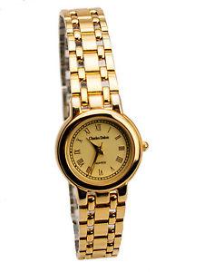 charles delon metal gold finish watch bracelet