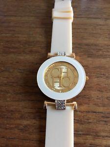 【送料無料】ladies chhc fashion watch with silicone straps w61856